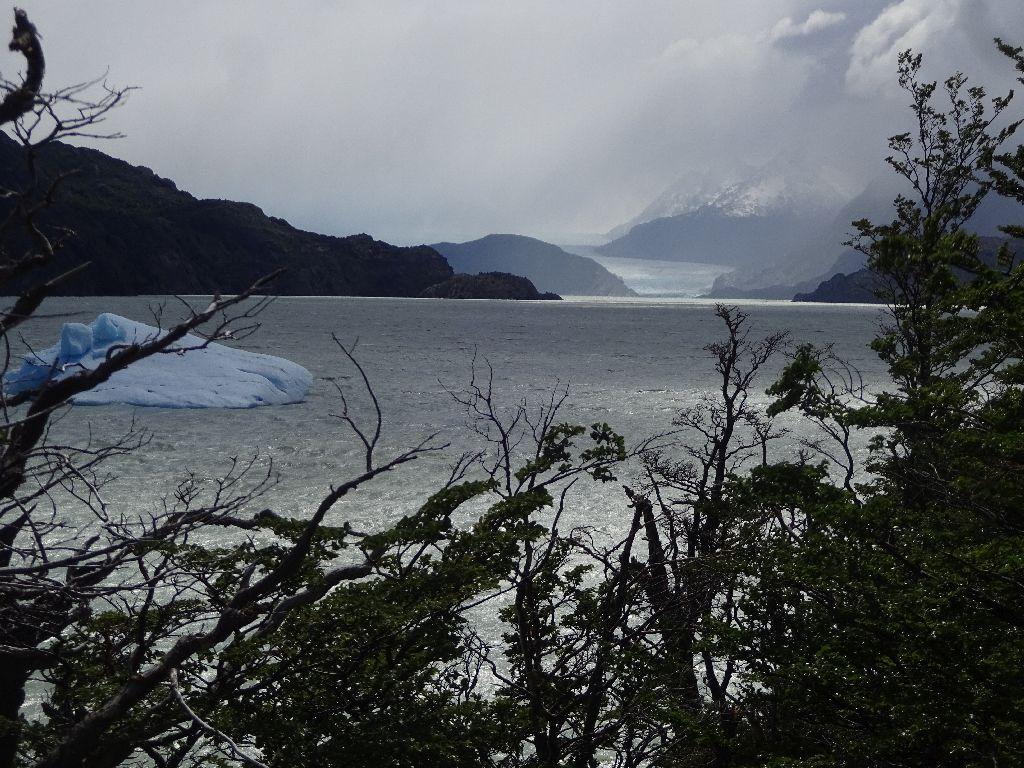 Nicht der klarste Tag für die Wanderung am Grrey-Gletscher
