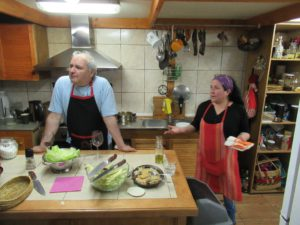Dinnervorbereitungen