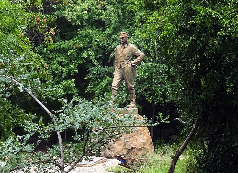 Dr. Livingstone, stepping out of the jungle gloom...